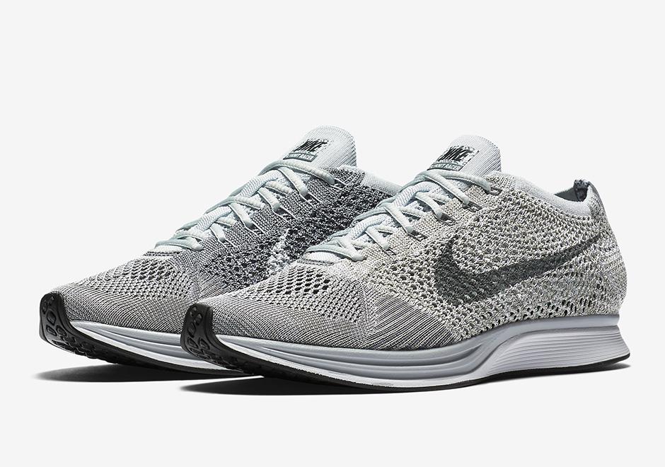 """Nike Flyknit Racer """"Pure Platinum"""" sepatu sneakers - Sepatu Sneakers Terbaru 2020"""