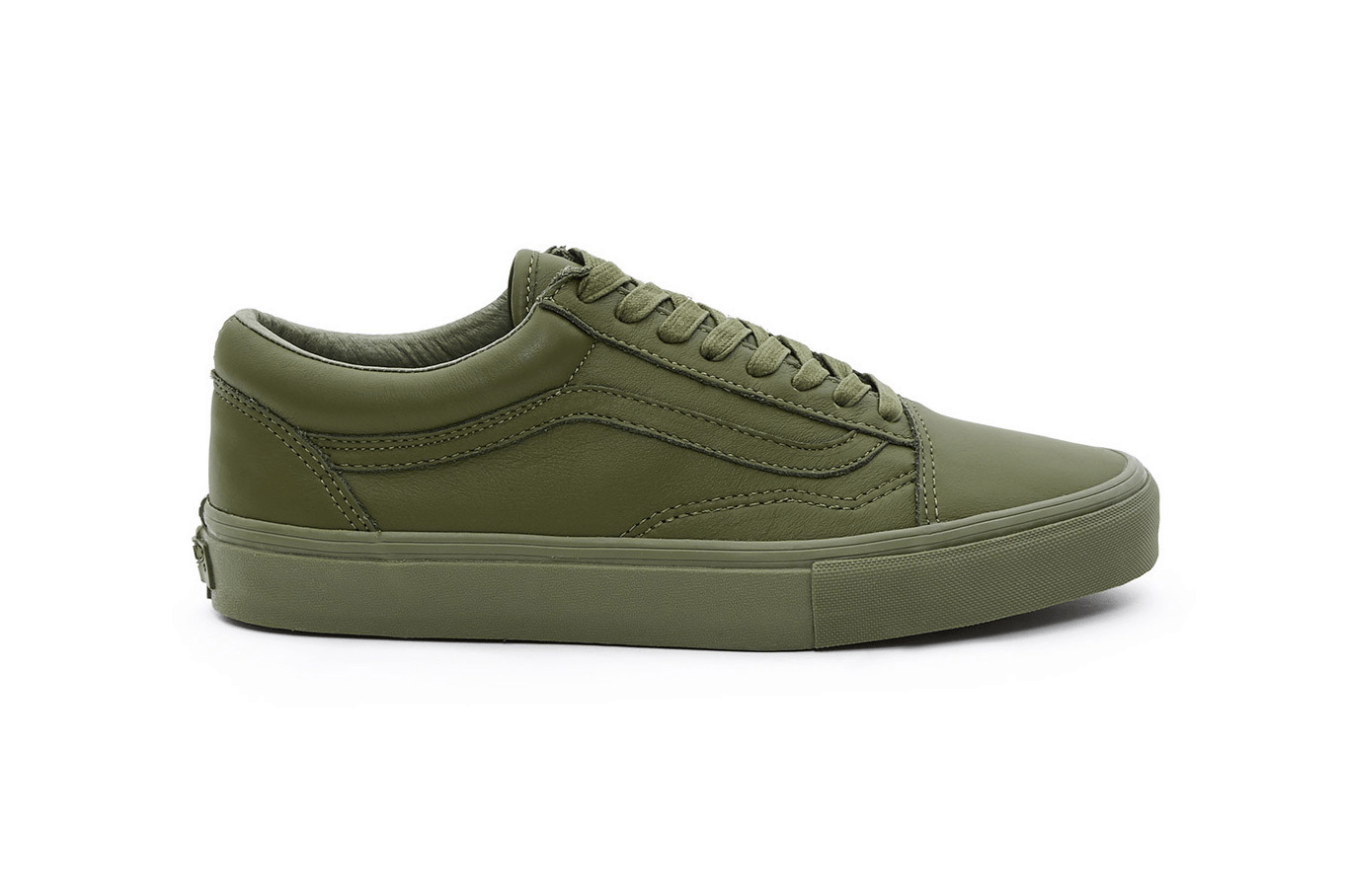 """Opening Ceremony x Vans Old Skool """"Leather Mono"""" Chive"""