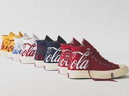 gambar sepatu Sneaker kolaborasi terbaru KITH x Coke x Converse Chuck Taylor