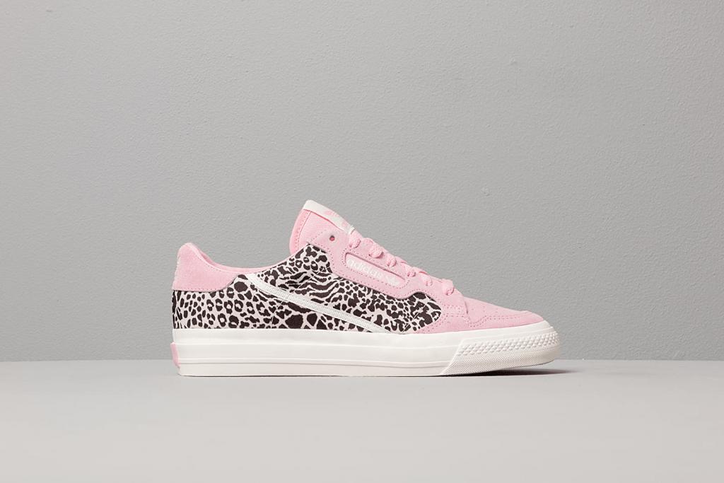 adidas continental vulc w true pink/ ftw white/ off white - adidas Continental 80s Vulc Pink Leopard