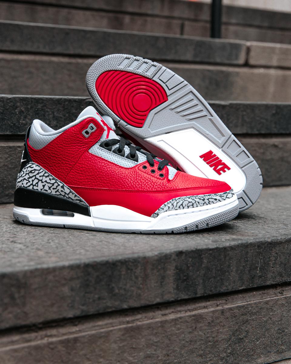"""air jordan 3 """"red cement"""" - Air Jordan 3 Kembali ke Chicago dengan Air Jordan 3 """"Red Cement"""""""