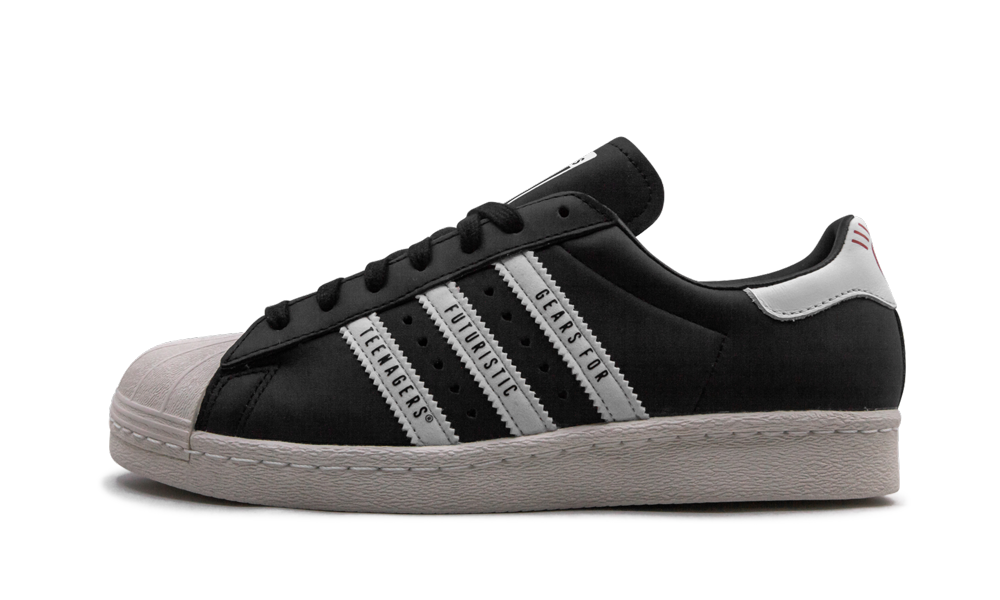 Adidas Super Star 80s Human Made 'Black' Shoes - Size 10