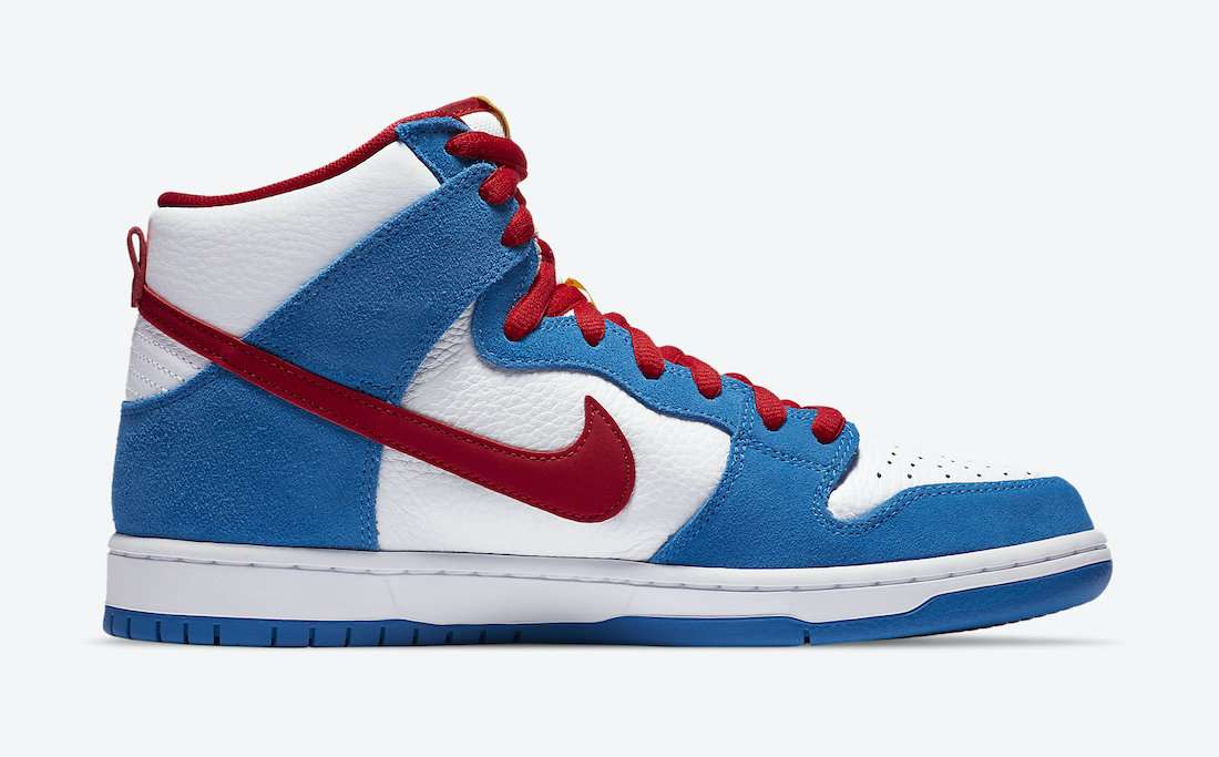 "nike sb dunk high ""doraemon"" - Nike SB Dunk High Doraemon CI2692 400 Release Date 2 - Nike SB Dunk High ""Doraemon"""