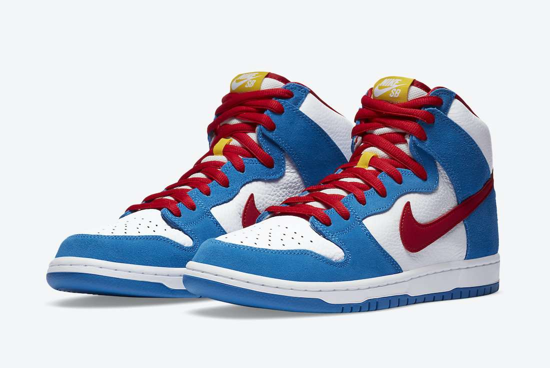 "nike sb dunk high ""doraemon"" - Nike SB Dunk High Doraemon CI2692 400 Release Date 4 - Nike SB Dunk High ""Doraemon"""