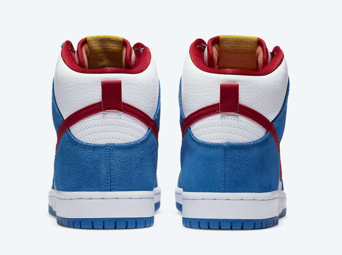 "nike sb dunk high ""doraemon"" - Nike SB Dunk High Doraemon CI2692 400 Release Date 5 - Nike SB Dunk High ""Doraemon"""