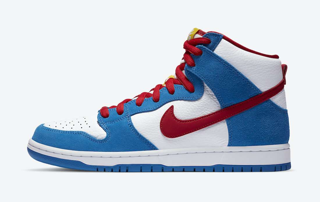 "nike sb dunk high ""doraemon"" - Nike SB Dunk High Doraemon CI2692 400 Release Date - Nike SB Dunk High ""Doraemon"""